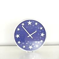 Star clock (dark blue)