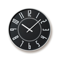 Sapporo Station clock design eki clock (black)
